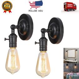 2 Pack Wall Light Fixtures Adjustable Metal Wall Lamp Sconce