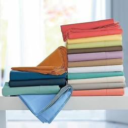 4pcs Bed Sheet Set Solid All Colors Sizes 1000 Thread Count