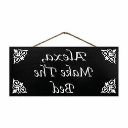 JennyGems Alexa Make The Bed   Funny Home Sign   Home Decor