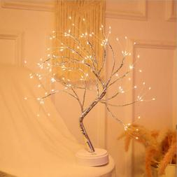 Battery Powered LED Fairy Tree Light Copper Wire Home Room P