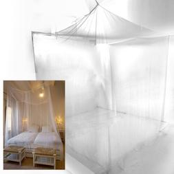 Bed Sheer Panel Canopy Net Mosquito Net Bedroom Insect Curta