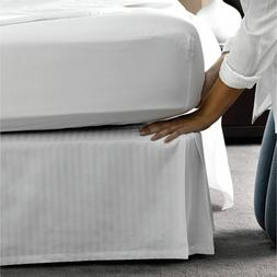 BED SKIRT WHITE STRIPED SELECT DROP LENGTH ALL US SIZE 1000
