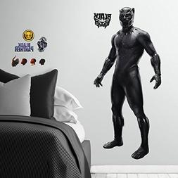 """RoomMates Black Panther Movie Decal, 36.5"""" x 17.25""""/36.5"""" x"""