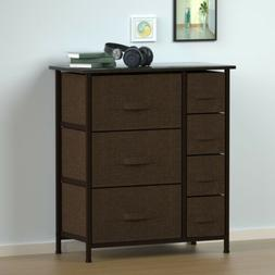 Dresser Bedside 7 Drawers Woven Fabric Furniture Storage Tow