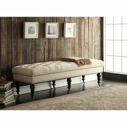 Entrance Bench Entryway End Of King Bed Long Upholstered Din