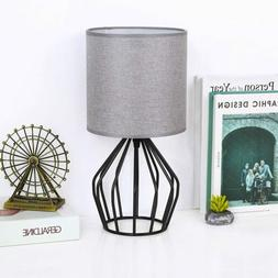 Farmhouse Table Lamp - Small Nightstand Lamp for Bedroom, Bl