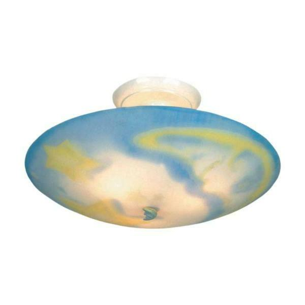 moon and stars childrens 3 light ceiling