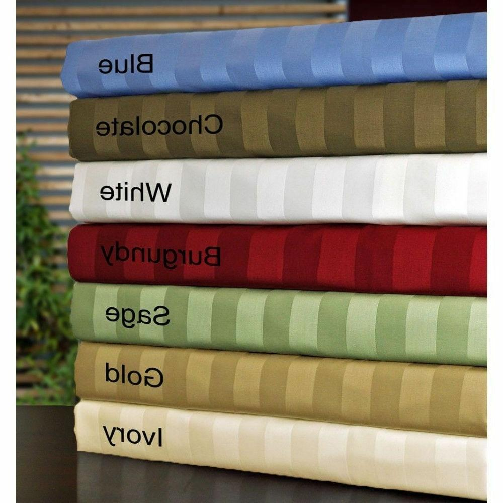 striped bed sheet set 4 pc all