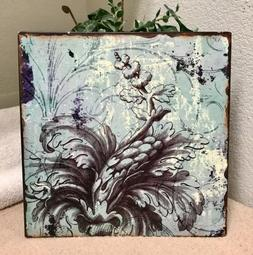 Metal Wall Art Home Decor Accent Blue Classic With A Twist 1