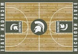 Michigan State Spartans NCAA Home Court Indoor Area Rug