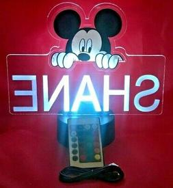 Mickey Mouse Disney Light Up Night Light Table Lamp LED Pers