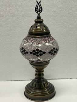 Handmade Stained Glass Mosaic Table Lamp Turkish Moroccan St