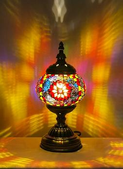 Handmade Turkish Moroccan Stained Glass Mosaic Table Lamp Fo