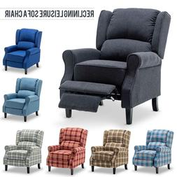 Apelila Relaxing Fabric Recliner Chair Sofa Upholstered Arm